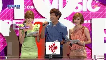 120929 Secret (Sunhwa, Hyosung) and ZE:A (Kwanghee) - MC Cut @ Music Core