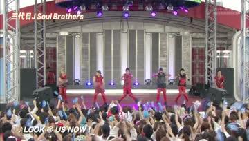 J Soul Brothers - Odaiba Gasshuukoku Mezamashi Live 2013 #6 (FujiTV Next)(2013.07.30)